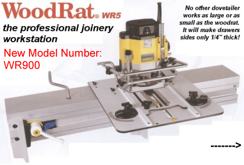 WoodRat WR5 the professional joinery workstation.